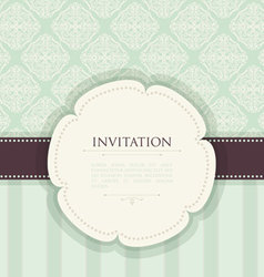 invitation back vector image vector image
