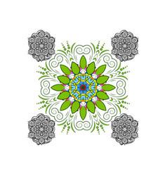 isolated on background mandala round ornament vector image