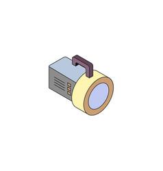 Lantern isometry icon vector