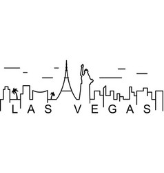 Las vegas outline icon can be used for web logo vector