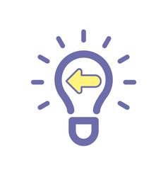 Light bulb idea previous icon vector