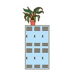 Locker school on white background vector