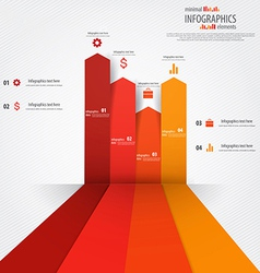 Minimal infographics design elements vector image