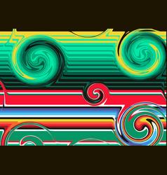 Modern mexican blanket stripes wavy shape swirl vector