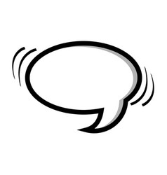 Monochrome silhouette oval shape dialog box vector