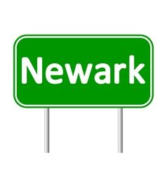 Newark green road sign vector