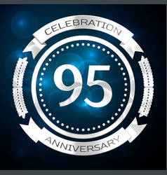 ninety five years anniversary celebration with vector image