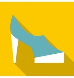One shoe icon flat style vector
