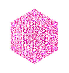 Ornate abstract isolated floral hexagon symbol vector