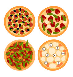 Pizza on a white background vector