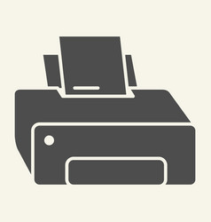 printer solid icon printout vector image