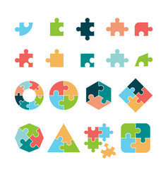 puzzle icon jigsaw incomplete pictograph vector image