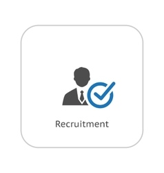 Recruitment Icon Business Concept Flat Design vector image