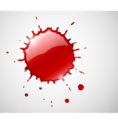 red ink blob splash vector image
