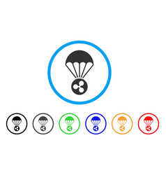 Ripple parachute rounded icon vector