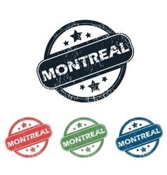 Round Montreal city stamp set vector