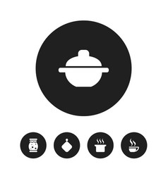 Set of 5 editable meal icons includes symbols vector