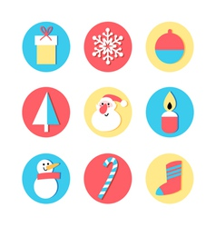 Set of icons for the New Year vector