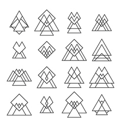 Set of trendy geometric shapes Geometric icons for vector