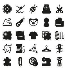 Sewing equipment icon set vector