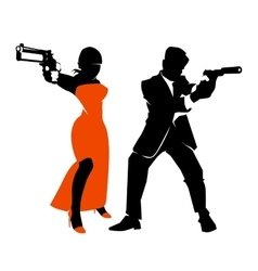 Spy couple set vector