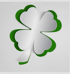 st patricks day background with clover white vector image