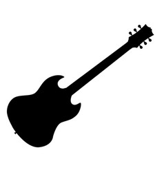 standard electric guitar vector image