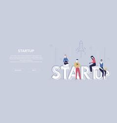 startup - modern flat design style colorful banner vector image