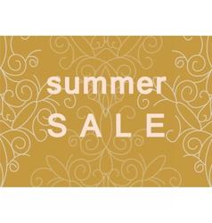 Summer Sale commercial banner vector