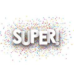 Super paper banner vector