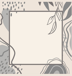 Trending background with abstract plant pattern 1 vector