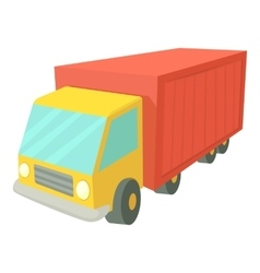 Truck icon cartoon style vector image