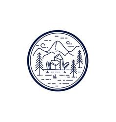 Vintage monoline logo badge template eps 10 vector