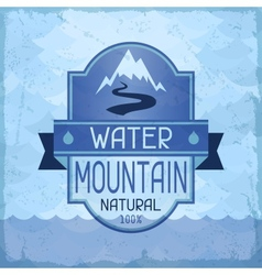 Water mountain background in retro style vector