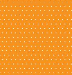 White polka dots on orange background vector