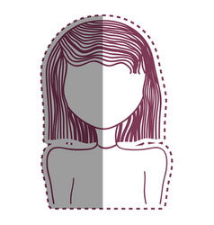 woman hearstyle decoration icon vector image