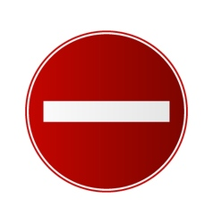 wrong way vector image