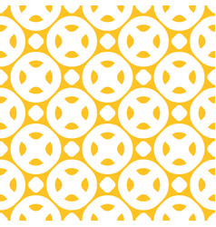 yellow seamless pattern with circles dots vector image