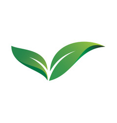 Abstract leaf ecology logo image vector