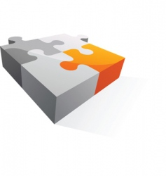 abstract puzzle icon and logo vector image