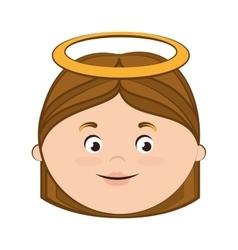 Angel heaven halo girl icon vector