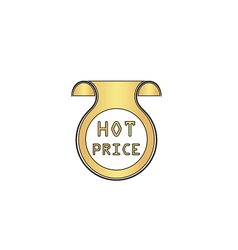 Hot price computer symbol vector image vector image