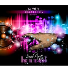 The Art of Disco Flyer vector image vector image