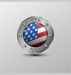 the emblemamerican flag vector image