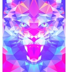 Abstract polygonal tiger vector image