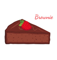 brownie chocolate pie cupcake pastry vector image