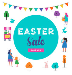 Easter sale template vector