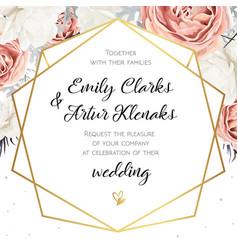 floral wedding invitation invite card design vector image