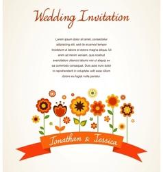 Greeting card invitation vector image vector image