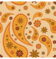 retro paisley pattern vector image vector image